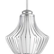 Progress Lighting Finn 1-Light Mini Pendant; Metallic Silver