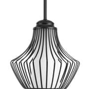 Progress Lighting Finn 1-Light Mini Pendant; Black