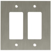 Franklin Brass Concave Double GFCI/Rocker Wall Plate; Satin Nickel