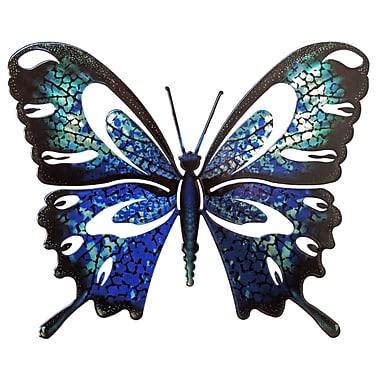 Next Innovations Butterfly 3D Metal Wall D cor; 12'' H x 14'' W