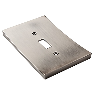 Franklin Brass Concave Single Switch Wall Plate; Satin Nickel