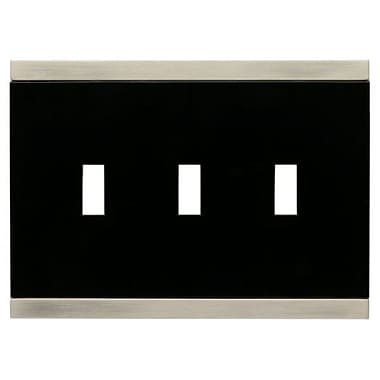 Franklin Brass Basic Stripe Triple Switch Wall Plate