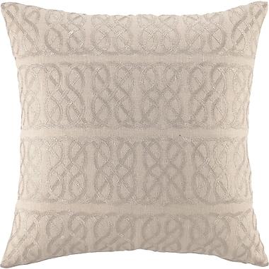 D.L. Rhein Embroidered Nautical Knot Linen Throw Pillow; Metallic Silver