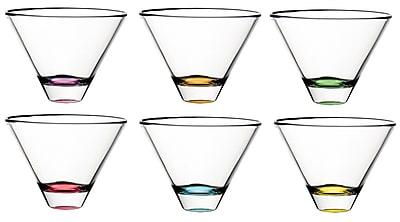 Majestic Crystal Confetti Lead Free Glass 11 oz. All Purpose Stemless Wine Glass (Set of 6) WYF078279255492