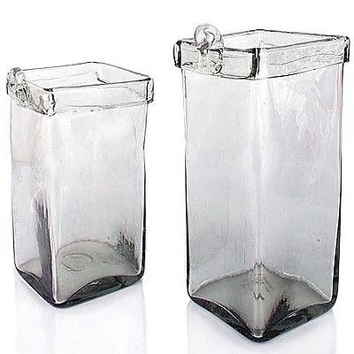 Novica Ice Cubes 2-Piece Glass Wall Planter Set