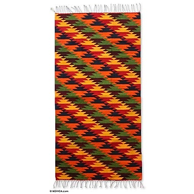 Novica Zapotec Hand-Loomed Red/Yellow Area Rug