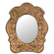 Novica Garden of Reverse Painted Glass Wall Mirror