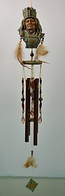 GreatWorldCompany Chief Poly Resin Indian Wind Chime