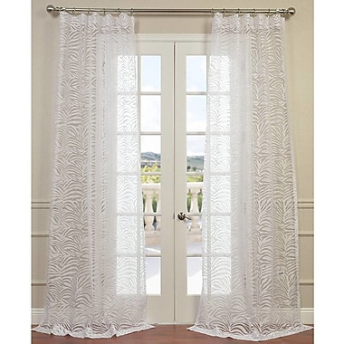 Half Price Drapes Zara Sheer Curtain Panel; 50'' W x 108'' L