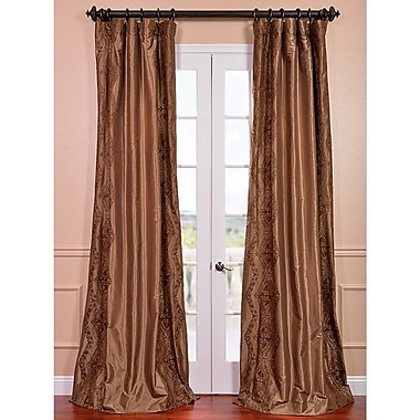 Half Price Drapes Chai Embroidered Single Curtain Panel; 50'' W x 84'' L
