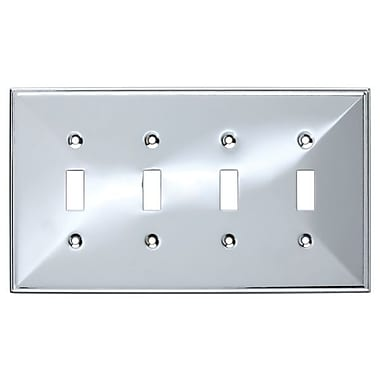 Franklin Brass Beverly Quad Switch Wall Plate