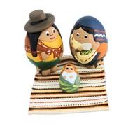 Novica 3 Piece Holy Birth in Ayacucho Peruvian Nativity Scene Ceramic Crafted by Hand Figurine Set