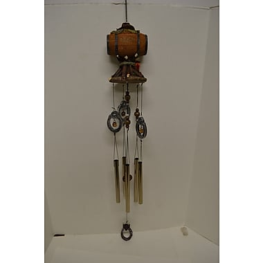 GreatWorldCompany Barrel Poly Resin Western Large Wind Chime