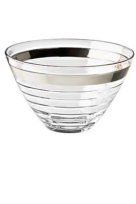 Majestic Crystal Glass Serving Bowl; Platinum WYF078279255620