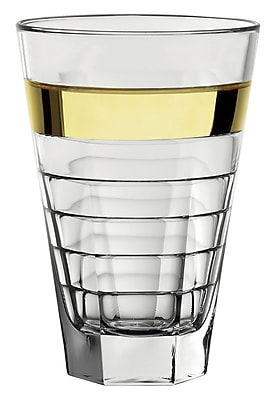 Majestic Crystal Hiball Glass (Set of 6); Gold WYF078279255637