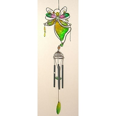 GreatWorldCompany Angel Wind Chime ; Green / Yellow