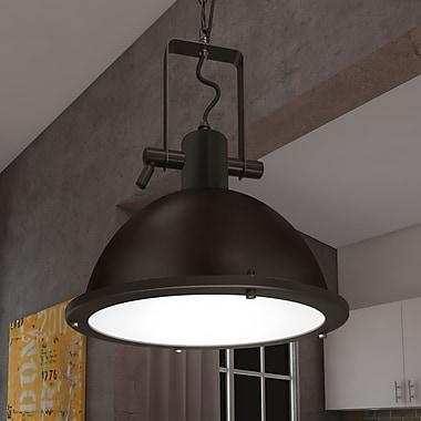 VONNLighting Dorado 1-Light Bowl Pendant; Architectural Bronze