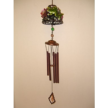 GreatWorldCompany Frog Lamp Shade Metal Wind Chime