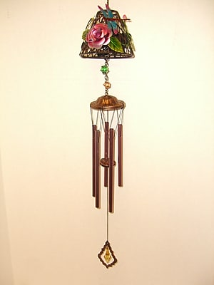 GreatWorldCompany Dragonfly Lamp Shade Metal Wind Chime