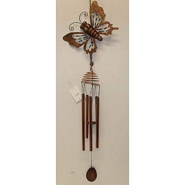 GreatWorldCompany Butterfly Insect Resin w/ Metal Wind Chime