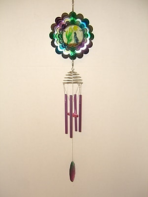 GreatWorldCompany Coyote Metal Spinner and Wind Chime