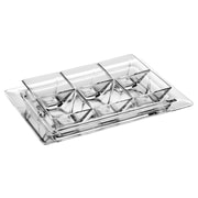 Majestic Crystal 7 Piece Glass Divided Serving Dish Set