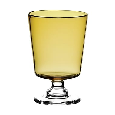Majestic Crystal Sinfonia 12.5 Oz. Glass Water Goblet (Set of 2); Amber