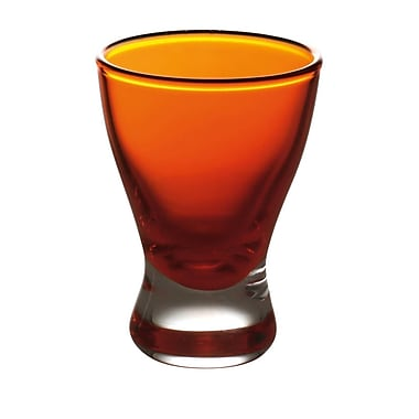 Majestic Crystal Nadia 2 Oz. Liquor Glass (Set of 6); Orange