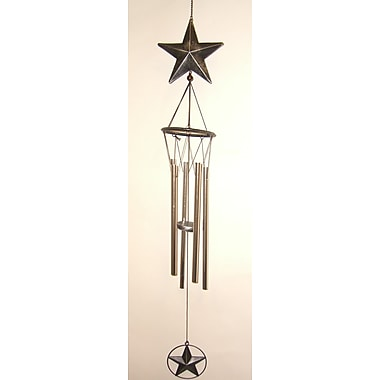 GreatWorldCompany Star Large Metal Wind Chime; Silver