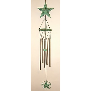 GreatWorldCompany Star Large Metal Wind Chime; Green