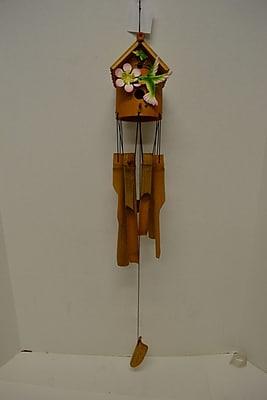 GreatWorldCompany Hummingbird Bamboo Bird House Wind Chime