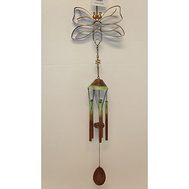 GreatWorldCompany Bee Flat Metal Insect w/ Petite Tubes Wind Chime