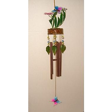 GreatWorldCompany Butterfly 3D Metal Flower Wind Chime