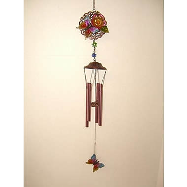 GreatWorldCompany Butterfly 2 Sided Poly Metal Wind Chime