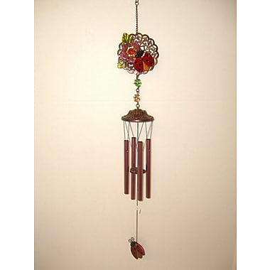 GreatWorldCompany Ladybug 2 Sided Poly Metal Wind Chime