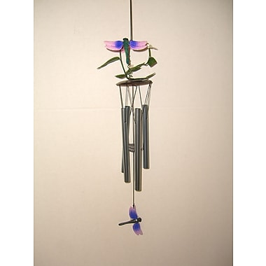 GreatWorldCompany Dragonfly 3D Metal Flower Wind Chime