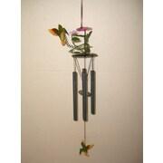 GreatWorldCompany Hummingbird 3D Metal Flower Wind Chime
