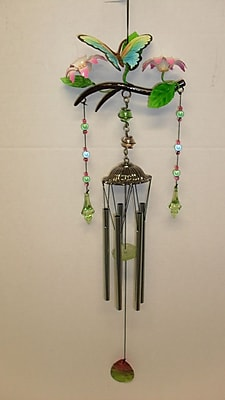 GreatWorldCompany Butterfly Poly Resin Branch Wind Chime