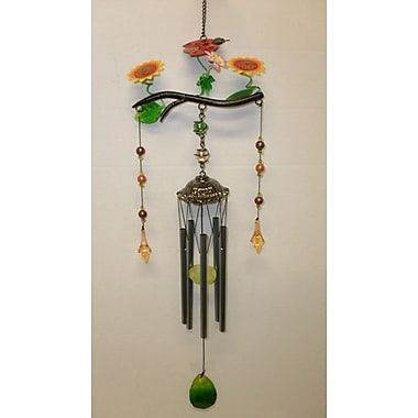 GreatWorldCompany Ladybug Poly Resin Branch Wind Chime