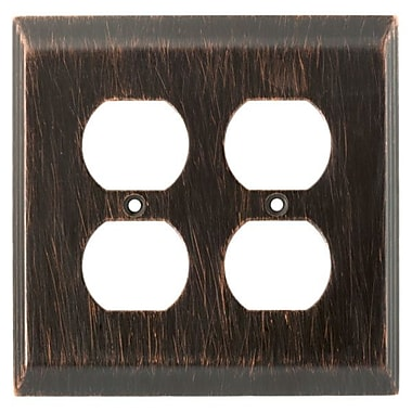 Franklin Brass Stately Double Duplex Wall Plate
