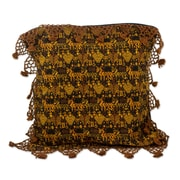 Novica Tactic Hand Woven Cotton Pillow Cover
