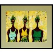 Novica The Merchants Cotton Batik by Samuel Ashong Painting Print