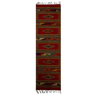 Novica Hand Woven Red Area Rug