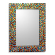 Novica Summer Leaves Handcrafted Glass Mosaic Wall Mirror