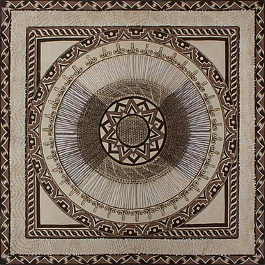 Novica Aztec Sun Mandala by Edgar Trejo Painting Print