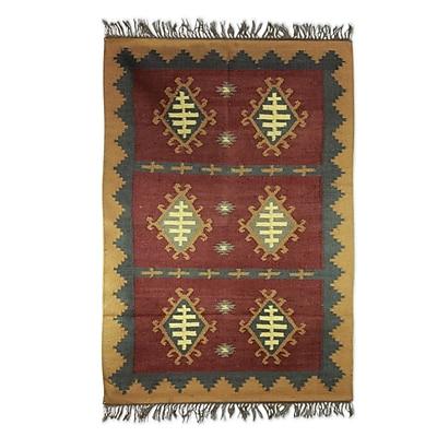 Novica Hand Woven Brown/Beige Area Rug