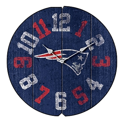 Imperial NFL 16'' Vintage Wall Clock; New England Patriots