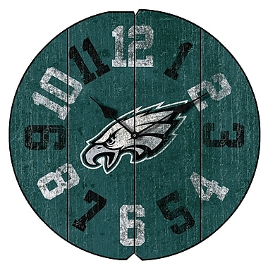Imperial NFL 16'' Vintage Wall Clock; Philadelphia Eagles