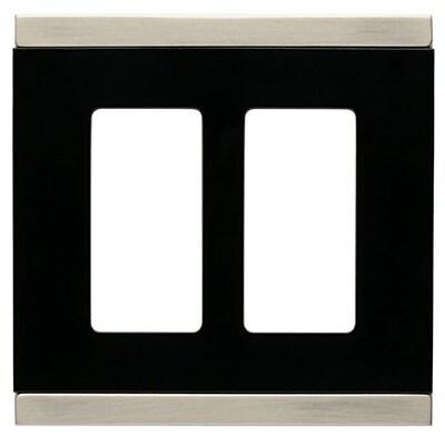 Franklin Brass Basic Stripe Double Decorator Wall Plate