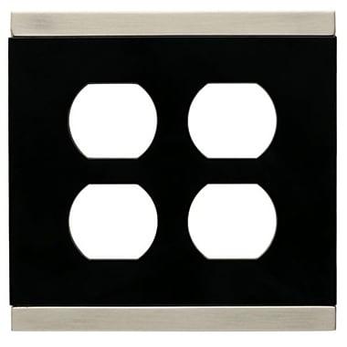 Franklin Brass Basic Stripe Double Duplex Wall Plate